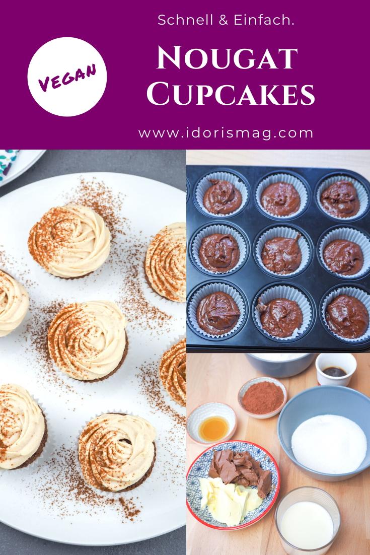 Vegane Nougat Cupcakes / Muffins