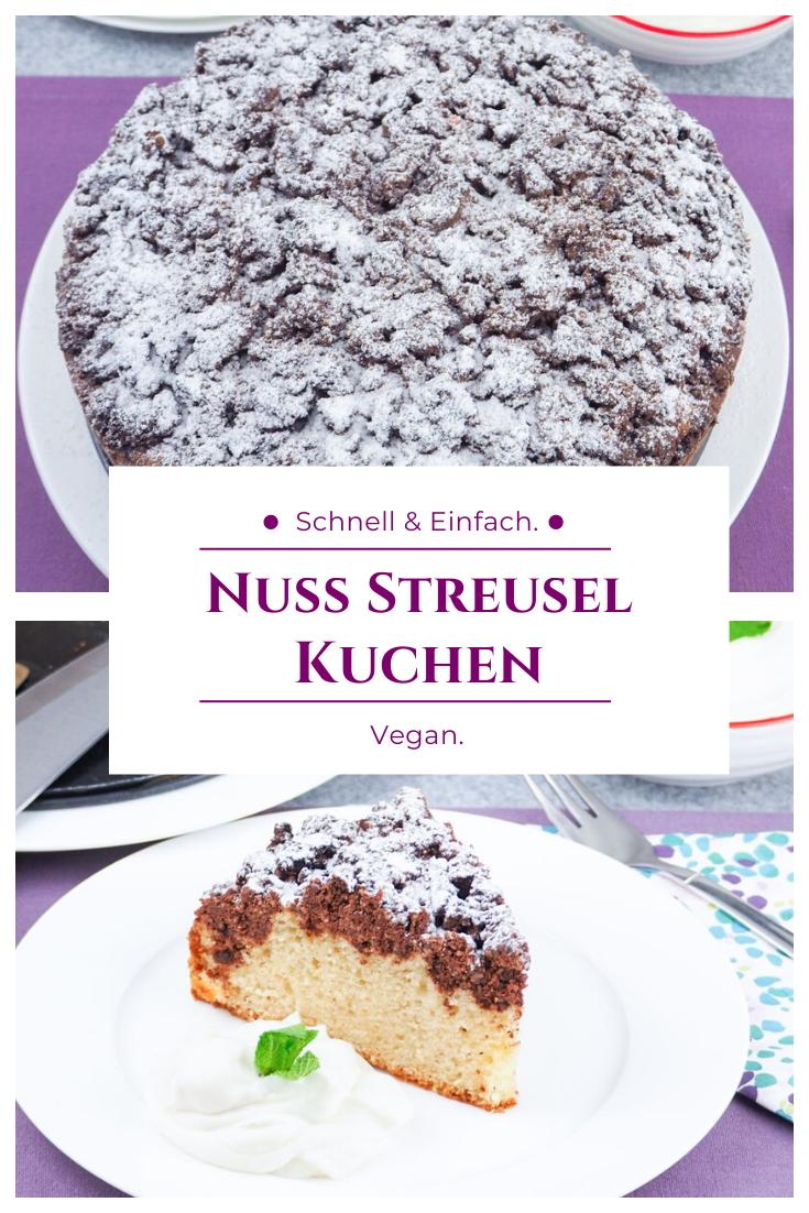 Veganer Nuss Streusel Kuchen