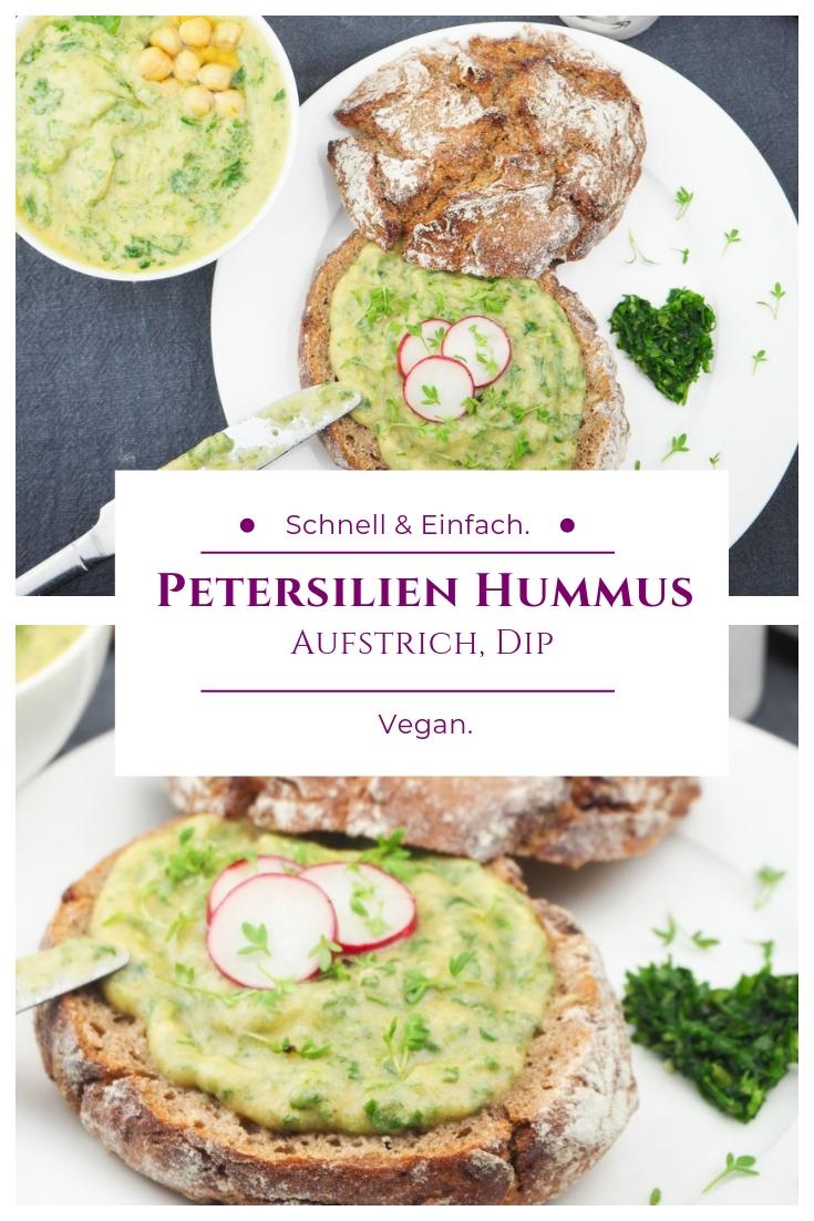 Veganer Hummus mit Petersilie