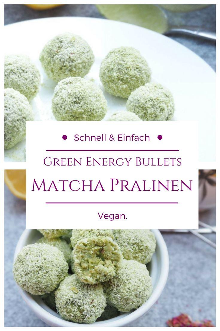 Vegane Matche Pralinen / Energy Bites