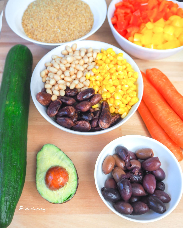 Veganer Bunter Bulgur Salat