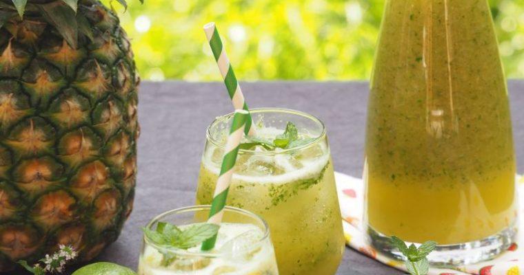 Erfrischender Gute Laune Smoothie – Ananas Minze Smoothie