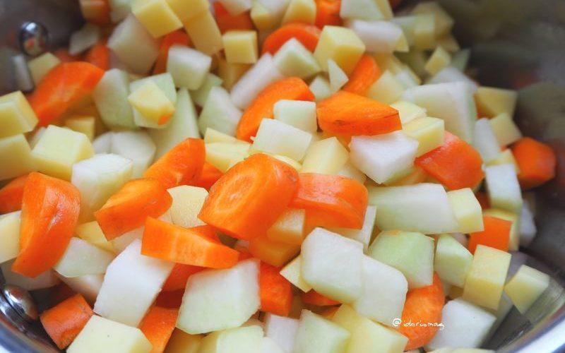 Vegane Kohlrabi Gemüse Suppe