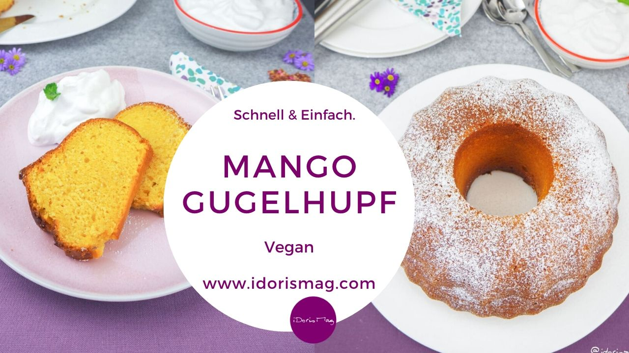 Veganer Mango Gugelhupf