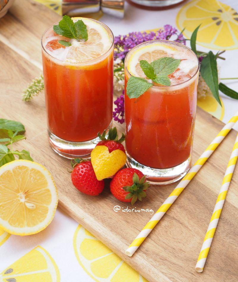It's fresh, so fresh – Limonade mit Erdbeeren und Minze